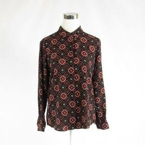 Carmen Marc Valvo black blouse S
